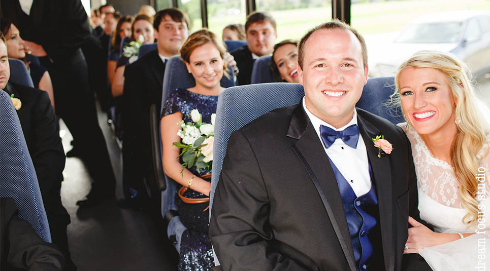 Your next Prom or Wedding in a Premier Charter Bus