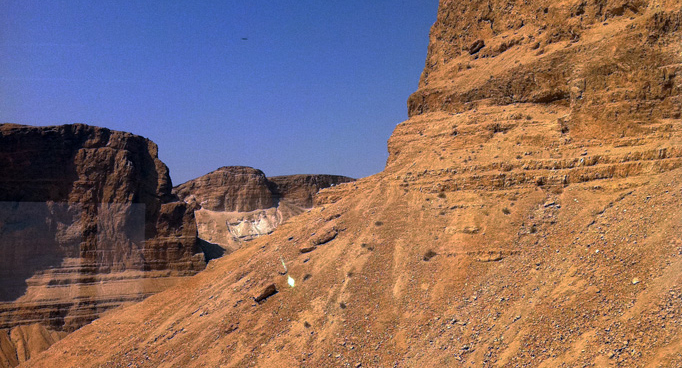 Masada Cliffs in Israel