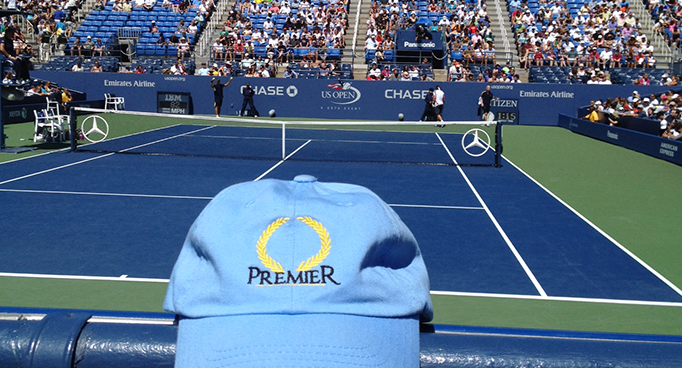 Premier Hat at the US Open in NYC