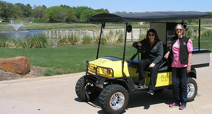 Premier Cart at Charity Golf Tournament