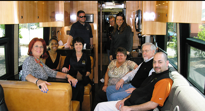 Premier Staff on Rock Star Bus