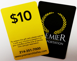 Premier Transportation Gift Card