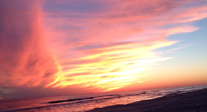 Beach Sunset at Seaside Florida