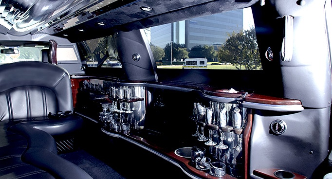 Black Stretch Limo Interior